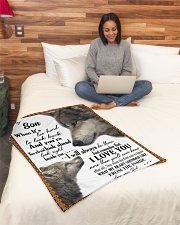 """To my dear son never forget that i love you Small Fleece Blanket - 30"""" x 40"""" aos-coral-fleece-blanket-30x40-lifestyle-front-08"""