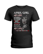 For April Girl- Take it now Ladies T-Shirt front