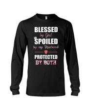 Email - Blessed by God - Spoiled by my husband  Long Sleeve Tee thumbnail