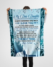 """My dear daughter remember how much i love you Small Fleece Blanket - 30"""" x 40"""" aos-coral-fleece-blanket-30x40-lifestyle-front-14"""