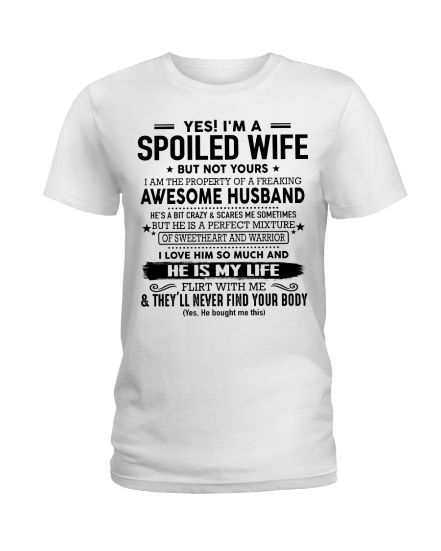 Perfect gift for Wife 0 Ladies T-Shirt