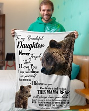 """My dear daughter remember how much i love you Small Fleece Blanket - 30"""" x 40"""" aos-coral-fleece-blanket-30x40-lifestyle-front-09"""
