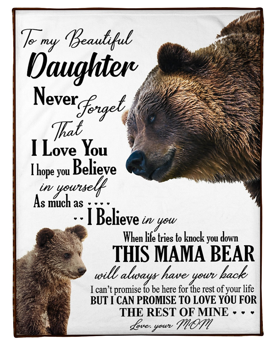 """My dear daughter remember how much i love you Small Fleece Blanket - 30"""" x 40"""""""