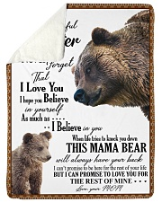 """My dear daughter remember how much i love you Large Sherpa Fleece Blanket - 60"""" x 80"""" thumbnail"""