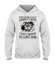 CRAZY ENOUGH TO LOVE HIM Hooded Sweatshirt front