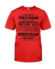 spoiled husband- January Premium Fit Mens Tee thumbnail