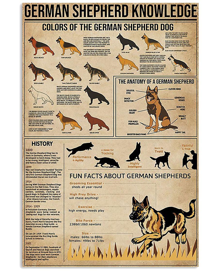 German shepherd knowledge Fun facts knowledge 11x17 Poster