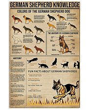 German shepherd knowledge Fun facts knowledge 11x17 Poster front