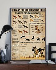 German shepherd knowledge Fun facts knowledge 11x17 Poster lifestyle-poster-2