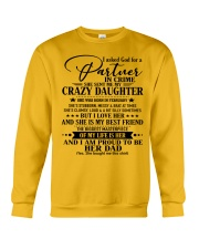 DAUGHTER TO DAD - D FEBRUARY Crewneck Sweatshirt thumbnail