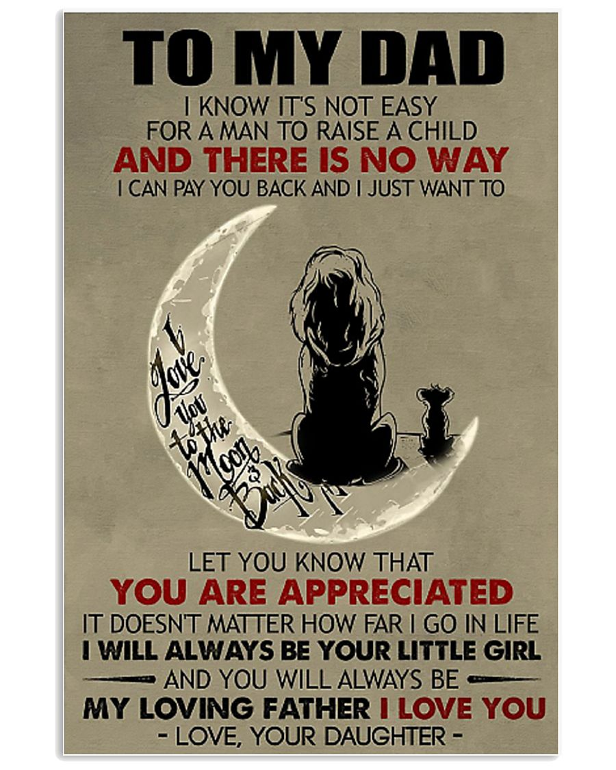 Special gift for DAD - DAUGHTER AND DAD 11x17 Poster