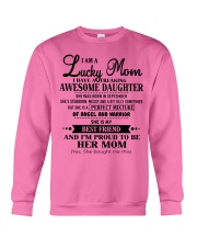 I am a Lucky Mom- Awesome Daughter- Kun 09 Crewneck Sweatshirt thumbnail