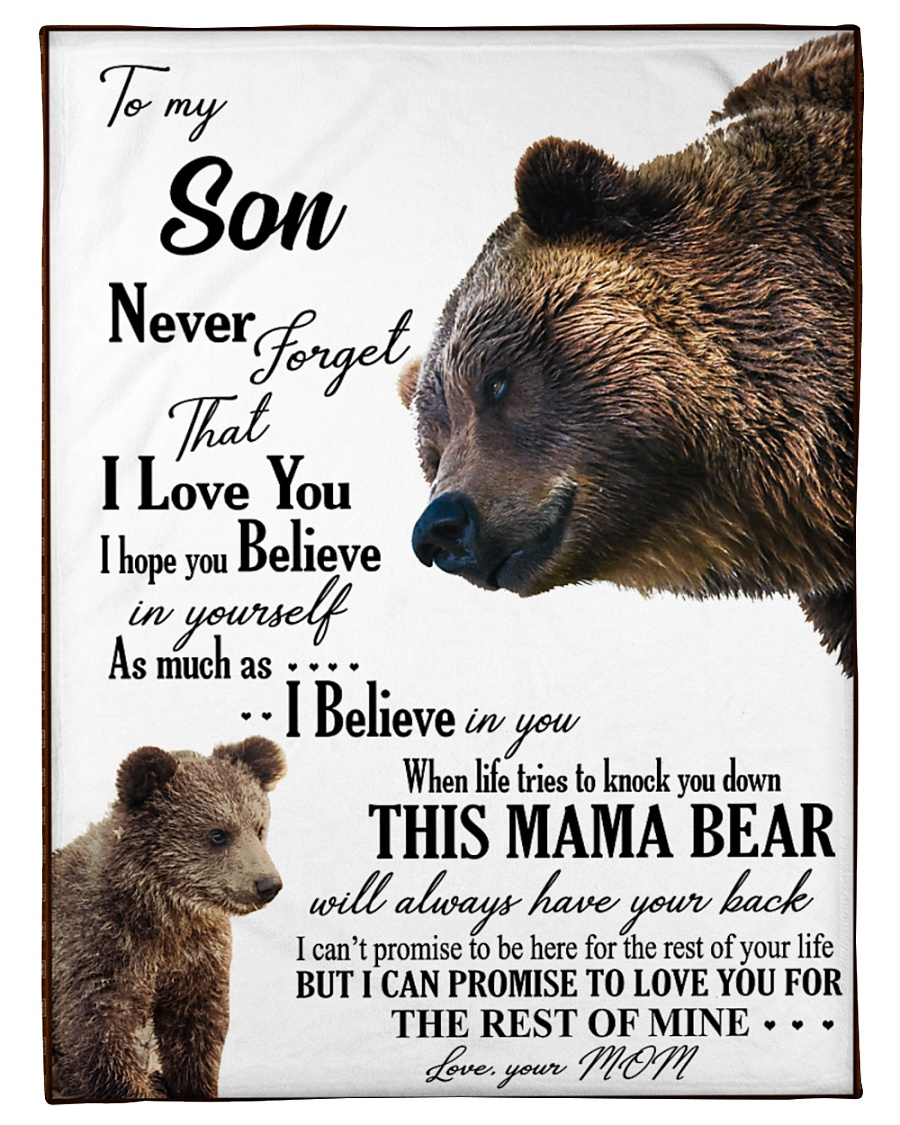 """My dear son always remember how much i love you Small Fleece Blanket - 30"""" x 40"""""""