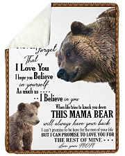 """My dear son always remember how much i love you Large Sherpa Fleece Blanket - 60"""" x 80"""" thumbnail"""