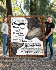 "To my dear daughter never forget that i love you Quilt 60""x70"" - Twin aos-quilt-60x70-lifestyle-front-04"