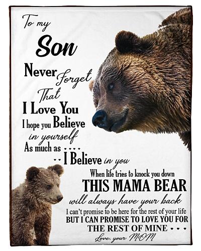 TO MY DEAR SON- BLANKET