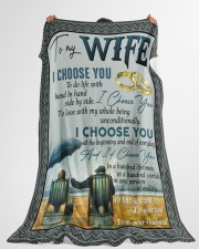 "To my wife i'd find you and i'd choose you gift Large Fleece Blanket - 60"" x 80"" aos-coral-fleece-blanket-60x80-lifestyle-front-10"