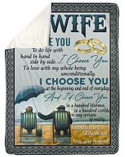 "To my wife i'd find you and i'd choose you gift Large Sherpa Fleece Blanket - 60"" x 80"" thumbnail"