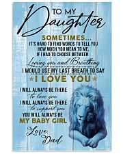 DAD TO  DAUGHTER - A 11x17 Poster front