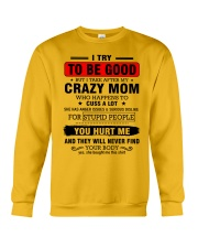 I try to be good - perfect gift for child Crewneck Sweatshirt thumbnail
