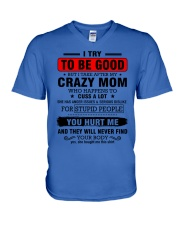 I try to be good - perfect gift for child V-Neck T-Shirt thumbnail