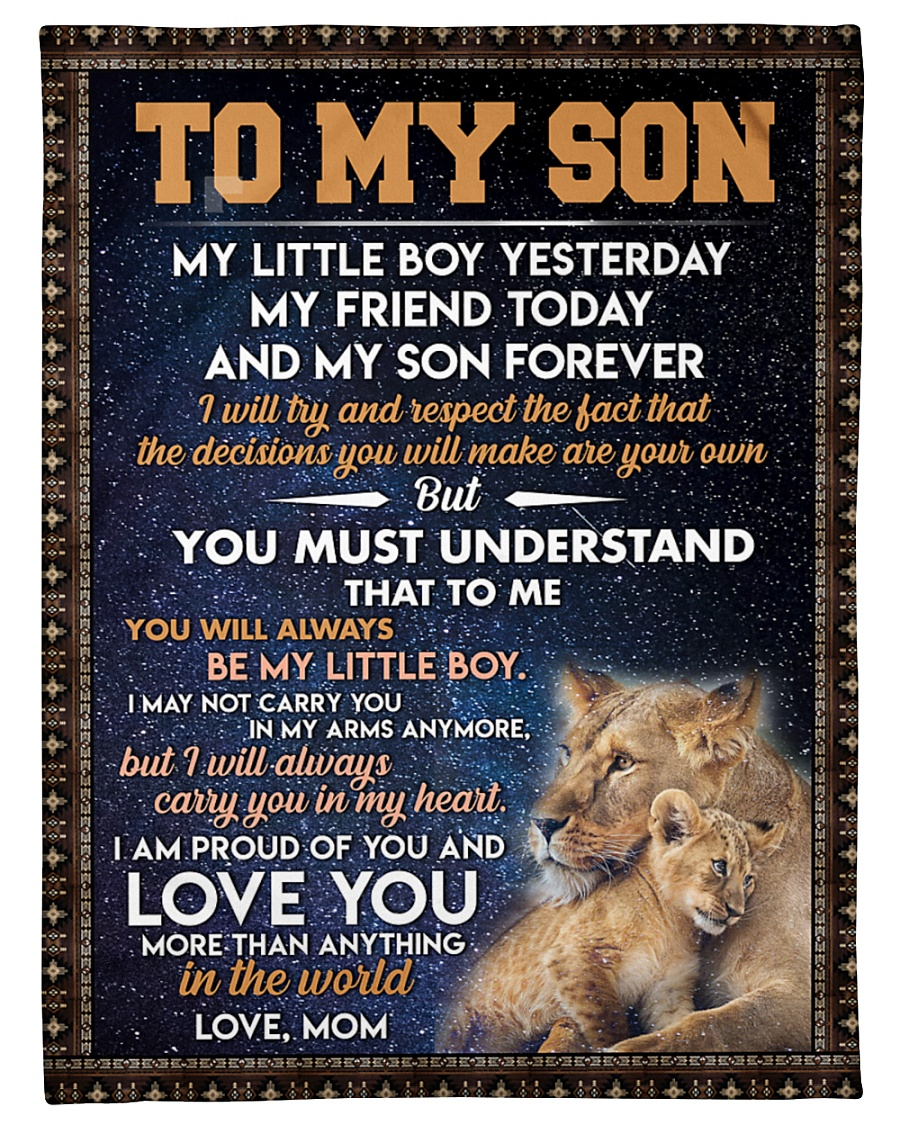 "Tung store To my son T0 T1-14 Small Fleece Blanket - 30"" x 40"""