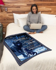 """To my son never forget that i love you gift Small Fleece Blanket - 30"""" x 40"""" aos-coral-fleece-blanket-30x40-lifestyle-front-08"""