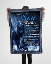 """To my son never forget that i love you gift Small Fleece Blanket - 30"""" x 40"""" aos-coral-fleece-blanket-30x40-lifestyle-front-14"""
