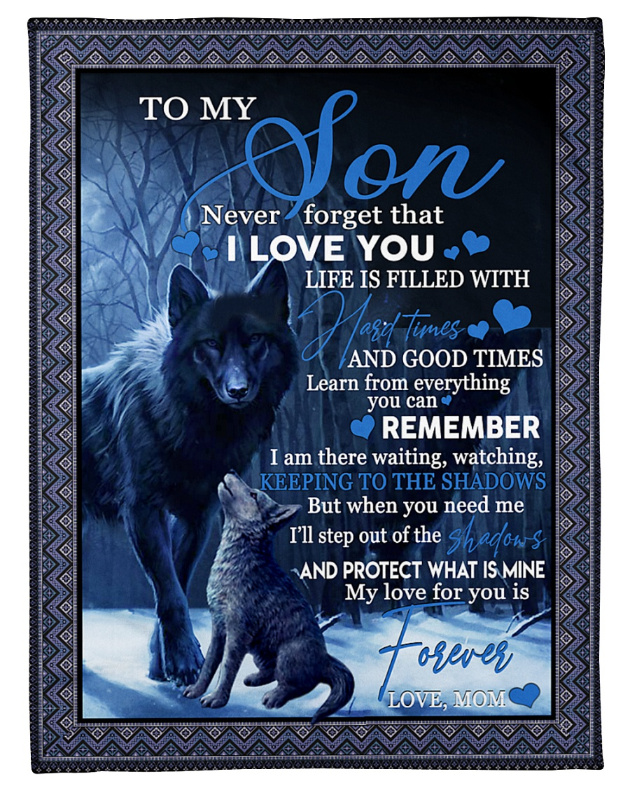 """To my son never forget that i love you gift Small Fleece Blanket - 30"""" x 40"""""""