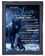 """To my son never forget that i love you gift Small Fleece Blanket - 30"""" x 40"""" front"""