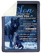 """To my son never forget that i love you gift Large Sherpa Fleece Blanket - 60"""" x 80"""" thumbnail"""