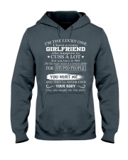 I have crazy GIRLFRIEND - She was born in May Hooded Sweatshirt tile