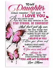 Special gift for daughter - C 110 11x17 Poster front