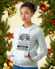 Good men still exist i know because i have one Hooded Sweatshirt lifestyle-holiday-hoodie-front-4