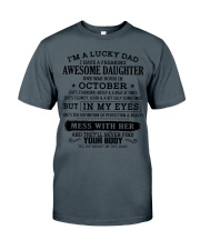 I'm a lucky dad - T10 October Classic T-Shirt front