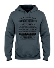 I'm a lucky dad - T10 October Hooded Sweatshirt thumbnail