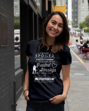 I AM NOT SPOILED - MY HUSBAND JUST LOVES ME Ladies T-Shirt lifestyle-women-crewneck-front-5