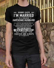 Sorry guys i'm married to an awesome husband Classic T-Shirt apparel-classic-tshirt-lifestyle-21
