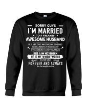 Sorry guys i'm married to an awesome husband Crewneck Sweatshirt thumbnail