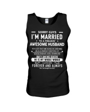 Sorry guys i'm married to an awesome husband Unisex Tank thumbnail