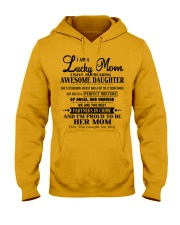 I am a Lucky Mom- I have an Awesome Daughter- Uni0 Hooded Sweatshirt thumbnail
