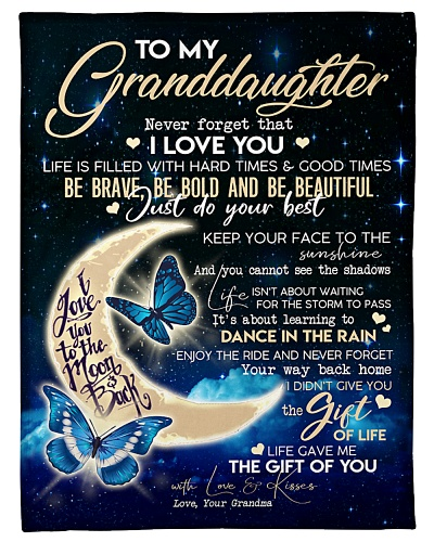 Special gift for your granddaughter - A Blanket