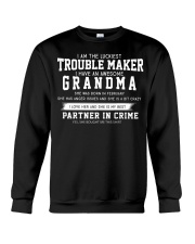 I'M THE LUCKIEST TROUBLE MAKER - FEBRUARY Crewneck Sweatshirt thumbnail