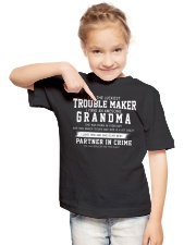 I'M THE LUCKIEST TROUBLE MAKER - FEBRUARY Youth T-Shirt lifestyle-youth-tshirt-front-2
