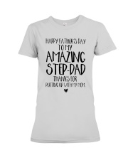 STEP DAD - FATHER DAY - NEW Premium Fit Ladies Tee thumbnail