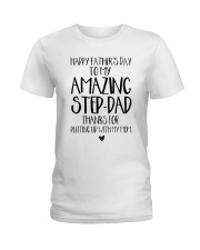 STEP DAD - FATHER DAY - NEW Ladies T-Shirt front