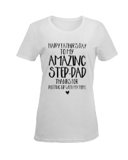 STEP DAD - FATHER DAY - NEW Ladies T-Shirt women-premium-crewneck-shirt-front