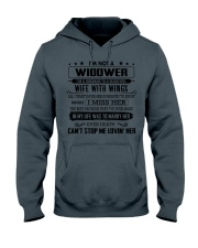 I'm not a widower i'm a husband to a wife wings Hooded Sweatshirt thumbnail
