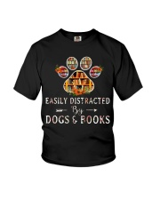 Easily Distracted By Dogs And Books CT Youth T-Shirt thumbnail