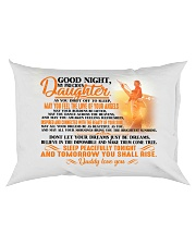 To my dearest daughter - T0 Rectangular Pillowcase back
